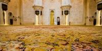 بزرگترین فرش دستباف ایران در مسجد شیخ زاید در ابوظبی امارات